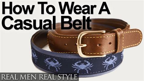 How To Wear A Casual Belt