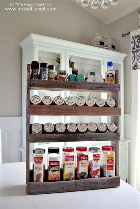 spice rack diy pallet spice rack make it and it