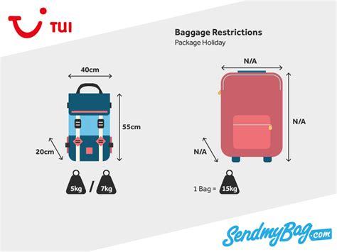 thomson tui baggage allowance   hand luggage