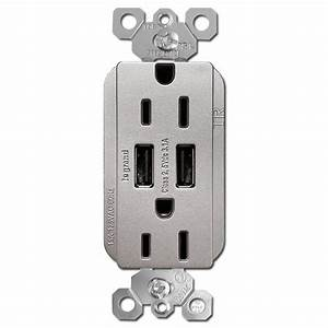 Usb Outlet 15a Receptacle Dual Charger