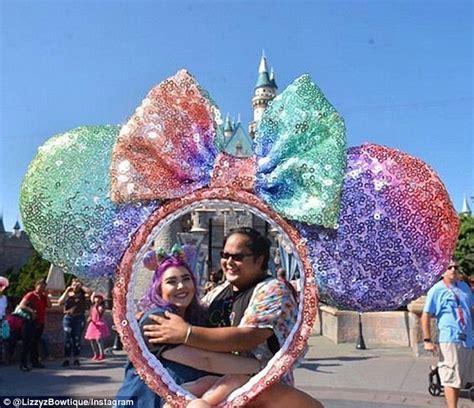 disney fans  crazy  rainbow minnie mouse ears daily