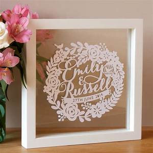personalised first wedding anniversary papercut by sas With first wedding anniversary images