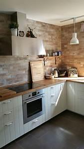 Ikea Küche Hittarp : fliesen in maueroptik matt lasiert ikea k che hittarp mit massiver eichenarbeitsplatte ~ Orissabook.com Haus und Dekorationen