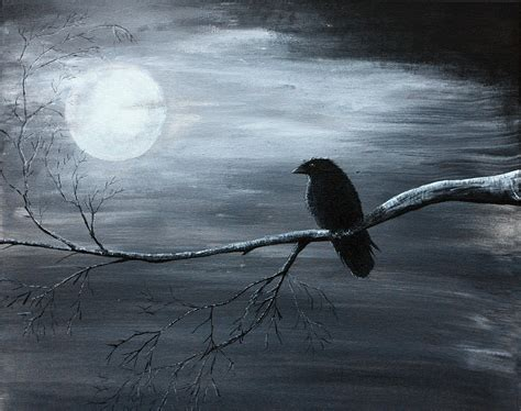 the raven piece 2 of 2 painting by gray artus