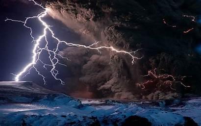 Lightning 4k Volcano Wallpapers Ultra Wallpapertag