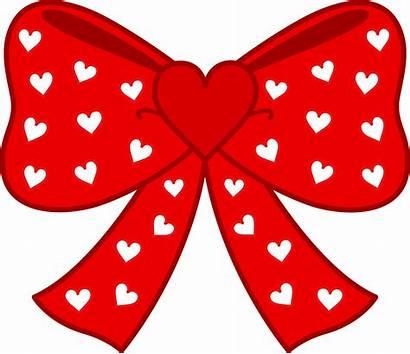 Bow Heart Hearts Clipart Clip Bows Pretty