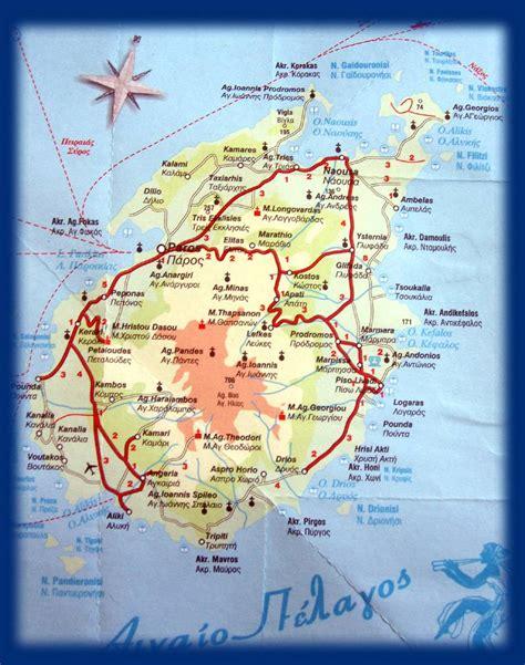 stadtplan von paros detaillierte gedruckte karten von