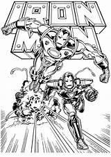 Iron Coloring Pages Ironman Fun sketch template