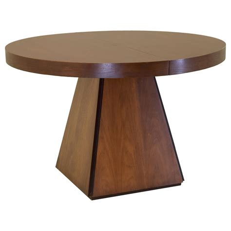 round tables with leaf extensions pierre cardin round obelisk dining table in walnut with