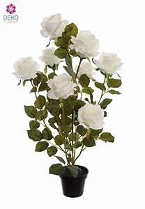 Bodenvase Weiß 70 Cm : k nstliche rosen im topf 70 cm wei ~ Frokenaadalensverden.com Haus und Dekorationen