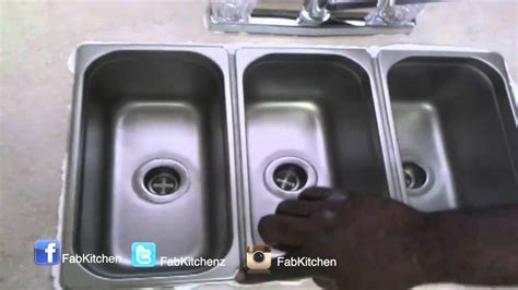 compartment drop  kitchen sink youtube