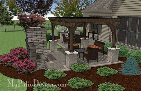 my patio design simple patio design with pergola fireplace and grill