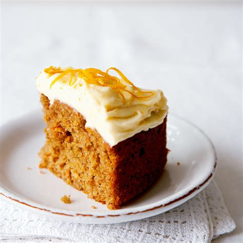 carrot cake  lemon cream cheese frosting woman  home