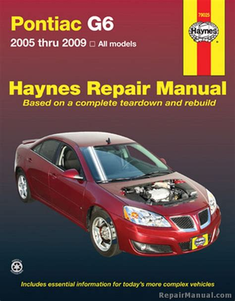 car repair manuals online pdf 2009 pontiac g6 electronic valve timing pontiac g6 2005 2009 automotive haynes repair manual
