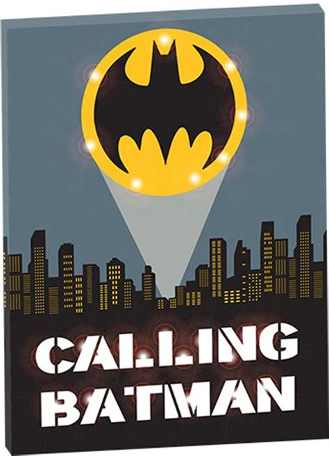 batman calling batman light up wall canvas mycraze