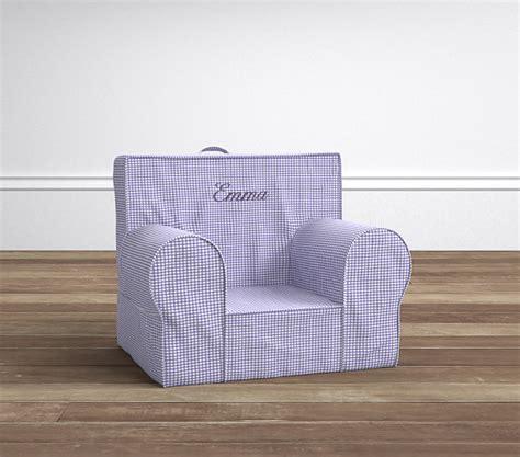 lavender gingham anywhere chair slipcover lavender gingham my anywhere chair pottery barn