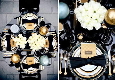 decoration mariage noir et blanc sweet tables wedding decoration decoration my marriage deco tables de table black gold