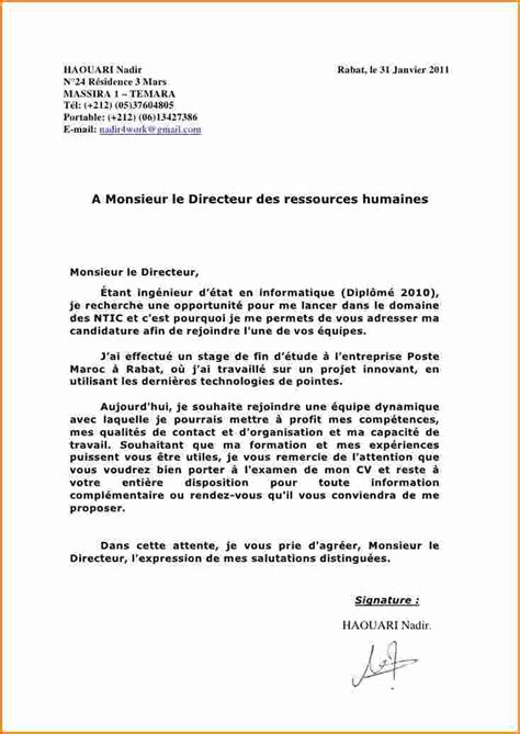 reconversion professionnelle cuisine 5 lettre de motivation stage exemple lettres