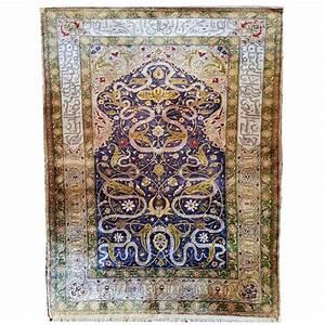 tapis ottoman en soie asie mineure turquie 20eme With tapis soie turquie prix