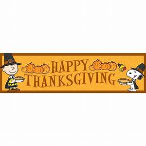 Peanuts happy thanksgiving classroom banners eureka school for Happy thanksgiving banners