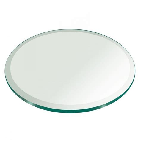 Glass Table Top 20 Inch Round Beveled Edge Tempered Glass