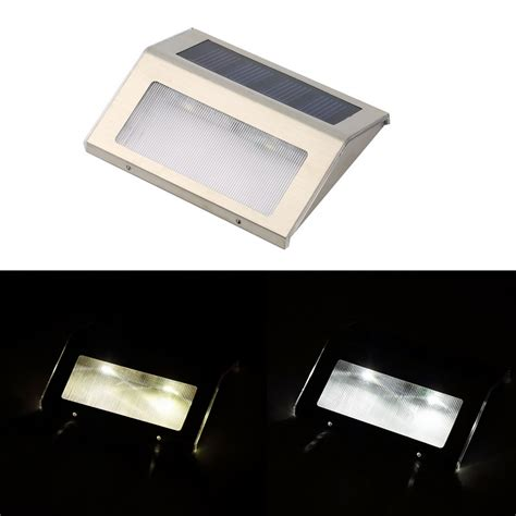 led solar power path stair outdoor light garden yard fence