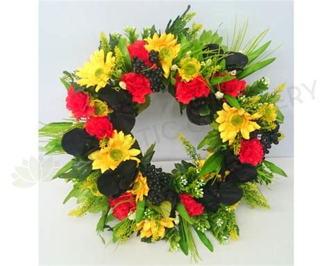 artificial australian native christmas wreath indigenous aboriginal australia wreath silk floral wreath flower wreath perth australia
