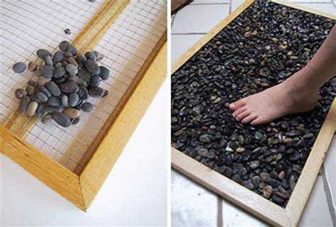 river rock doormat 35 amazing ideas adding river rocks to your home design