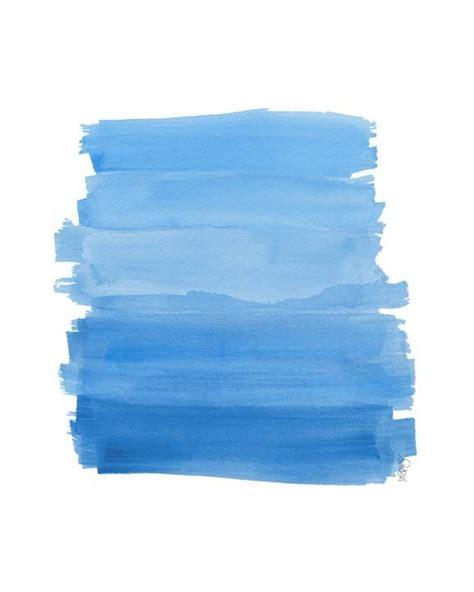 ocean blue ombre watercolor art print beach decor coastal