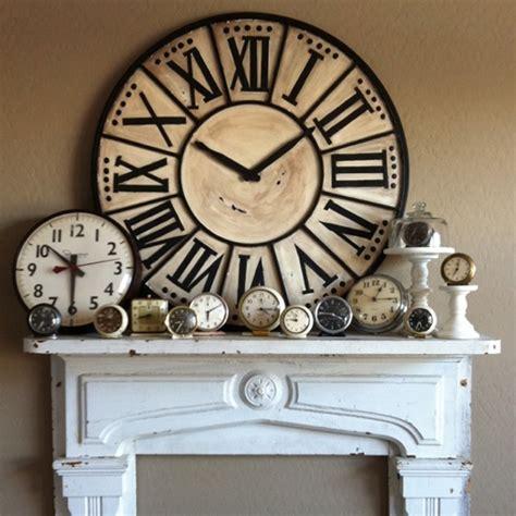 images  big clocks  pinterest mantels