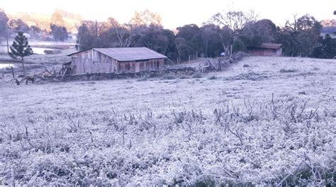 Temperaturas abaixo de zero e neve no sul do Brasil. Veja ...