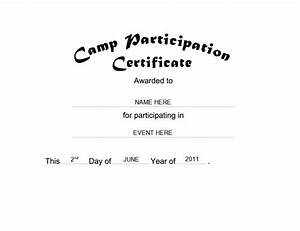 Certificate Of Participation Template Free Camp Participation Certificate Free Templates Clip Art Wording Geographics