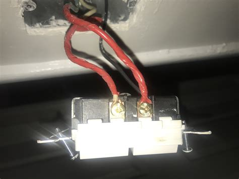 Electrical Light Switch With Black Wires One Red