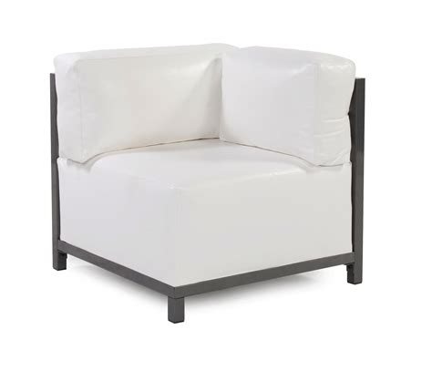 lounge chair corner atlantis white vinyl arizona