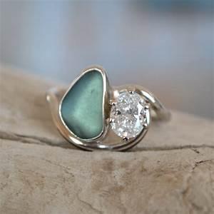 portfolio made by meg jewelry With glass wedding rings
