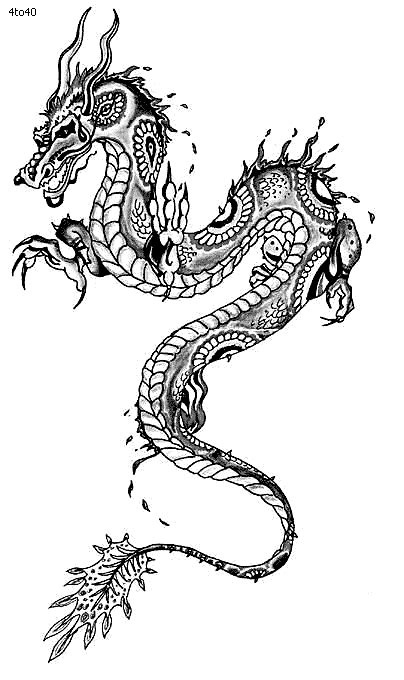 Festivals Coloring Pages, Chinese Dragon Year Coloring