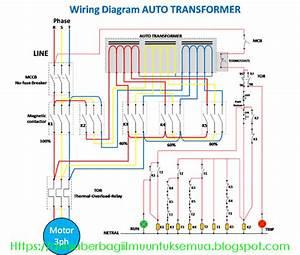 Wiring Diagram Rangkaian Auto Trafo  Auto Transformer  Dengan Sistem 4 Steps