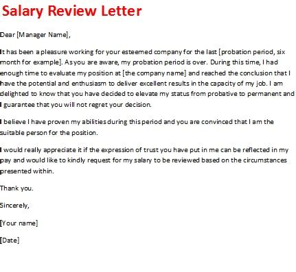 salary review letter