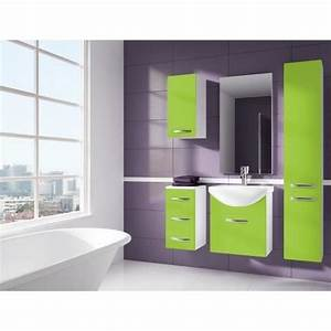 iris vert salle de bain 1m20 6 elements achat vente With meuble salle de bain vert