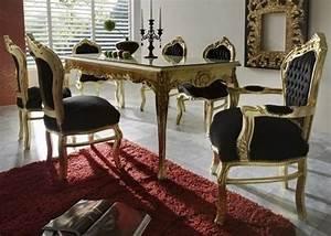 Barock Stil Möbel : casa padrino barock esszimmer set schwarz gold esstisch 6 st hle m bel antik stil ~ Markanthonyermac.com Haus und Dekorationen