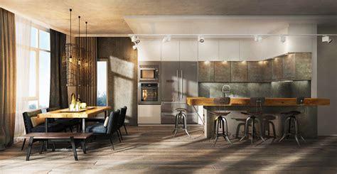 industrial home interior design open floorplan interior design ideas