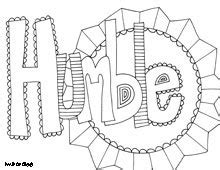 coloring page world inspiring words