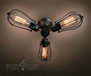 Vintage lights industrial ceiling light steampunk