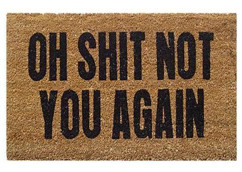 oh not you again coir door mats coco doormats