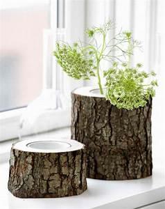 Kreative Ideen Zum Selbermachen : kreative ideen zum selbermachen originelle vasen aus baumst mpfen ~ Markanthonyermac.com Haus und Dekorationen