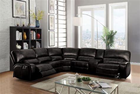 saul black reclining sectional  american furniture