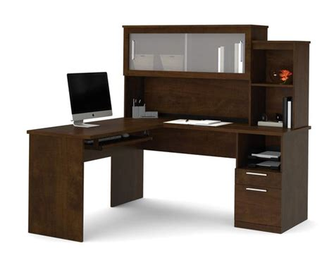 corner l shaped office desk with hutch chocolate l shaped corner office desk and hutch with