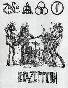 art Led Zeppelin robert plant Jimmy page John Bonham john ...