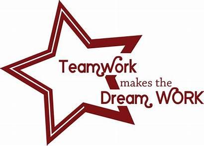 Teamwork Dream Makes Clipart Dcl Dark
