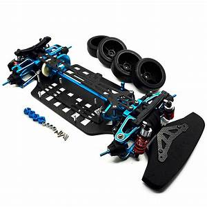 Rc 1  10 4wd Alloy Carbon Touring Car Frame Kit For Tamiya